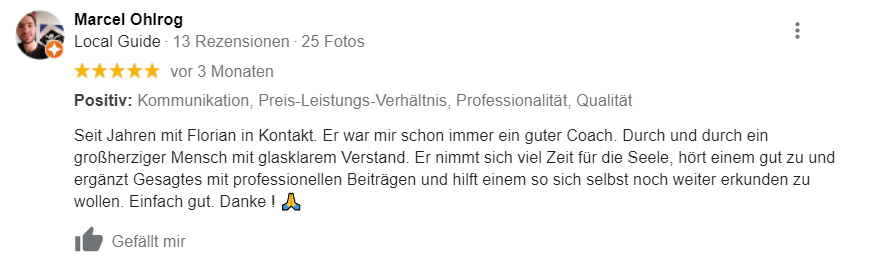 Professioneller Coach Florian Mayerhöfer